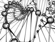 DNA van de molecule Stock Foto