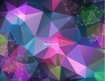 DNA van de moleculestructuur en communicatie achtergrond Verbonden lijnen met punten Concept de wetenschap, verbinding, chemie, b royalty-vrije illustratie
