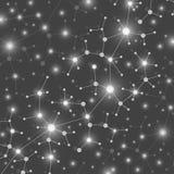DNA van de moleculestructuur en mededeling Abstract achtergrond chemisch samenstellingendeeltje Concept de wetenschap Royalty-vrije Stock Fotografie