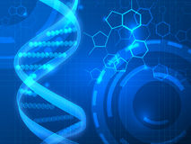 DNA vector medical background Stock Image