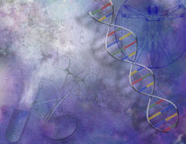 dna-vetenskap stock illustrationer