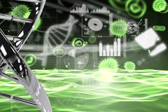 DNA and virus graphic design Stock Photography