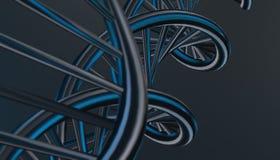 DNA w koloru tle i różnorodnym materiale, 3d odpłaca się ilustrację Zdjęcie Stock