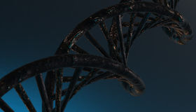 DNA w koloru tle i różnorodnym materiale, 3d odpłaca się ilustrację Fotografia Stock