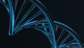 DNA w koloru tle i różnorodnym materiale, 3d odpłaca się ilustrację Obraz Stock