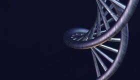 DNA w koloru tle i różnorodnym materiale, 3d odpłaca się ilustrację Zdjęcie Royalty Free