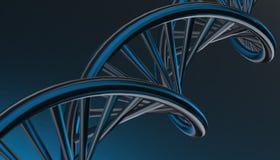 DNA w koloru tle i różnorodnym materiale, 3d odpłaca się ilustrację Obrazy Royalty Free