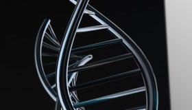 DNA w koloru tle i różnorodnym materiale, 3d odpłaca się ilustrację Obraz Royalty Free