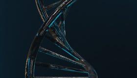 DNA w koloru tle i różnorodnym materiale, 3d odpłaca się ilustrację Obrazy Stock