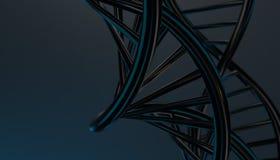 DNA w koloru tle i różnorodnym materiale, 3d odpłaca się ilustrację Zdjęcia Stock