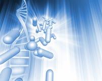 DNA y cápsulas Imagen de archivo libre de regalías