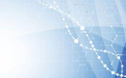 DNA-Zusammenfassungsikone und Elementsammlung Futuristische Technologie Lizenzfreie Stockfotos