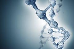 DNAmolekylar på den härliga bakgrunden Arkivbild
