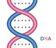 DNAtecknad filmsymbol Royaltyfria Bilder