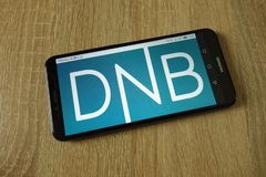 DNB ASA usluga finansowa grupy logo wystawiający na smartphone fotografia stock