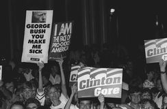 DNC Fundraiser in New York City, 1992 Stock Image