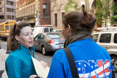 DNC voter registration drive. Democratic National Commitee in downtown Boston Massachusetts on a voter registration drive, Beacon Street, October 15, 2008 Stock Images