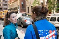 DNC Wählerregistrierunglaufwerk stockbilder