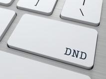 DND. Internetbegrepp. Royaltyfri Bild