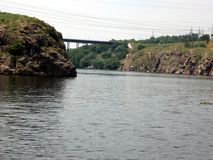 Dnepr ποταμός Ουκρανία στοκ φωτογραφία