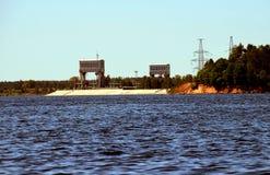 dnepr σταθμός Ουκρανία ποταμών υδροηλεκτρικής ισχύος zaporozhye Στοκ Εικόνες