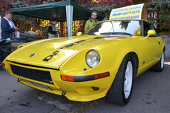 Dnepr auto retro show. Auto museum «cars of time» is organizing an am exhibition of retro cars. Dnipropetrovsk city, Ukraine stock photo