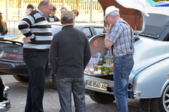 Dnepr auto retro show. Auto museum «cars of time» is organizing an am exhibition of retro cars. Dnipropetrovsk city, Ukraine stock photos