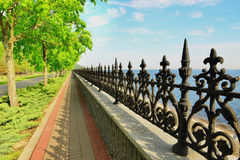 Dnepr embankment. This photo was taken in the park, which is located in the village Petrivtsi near Kiev stock photos