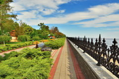 Dnepr embankment. This photo was taken in the park, which is located in the village Petrivtsi near Kiev stock image