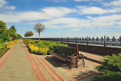Dnepr embankment. This photo was taken in the park, which is located in the village Petrivtsi near Kiev stock photo