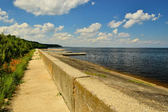 Dnepr embankment Royalty Free Stock Images