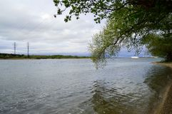 Dnepr flod Royaltyfri Foto