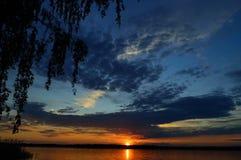 Dnepr flod Fotografering för Bildbyråer