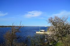 Dnepr River. Dnieper River in the spring Stock Photo