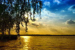 Dnepr River. Dnieper River in the spring stock image