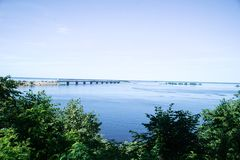 Dnepr River. On a summer sunny day. Cherkassy. royalty free stock photography