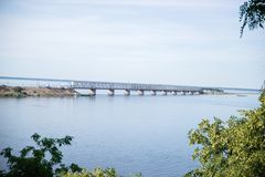 Dnepr River. On a summer sunny day. Cherkassy. stock image