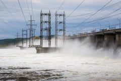 dnepr władze wodnej stacji zaporozhye Ukraine rzeki Obrazy Stock