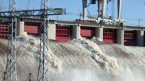 dnepr władze wodnej stacji zaporozhye Ukraine rzeki zbiory wideo