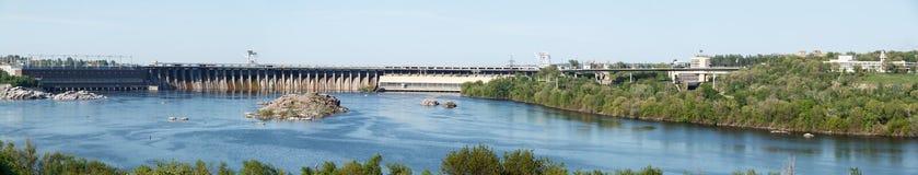 dnepr władze wodnej stacji zaporozhye Ukraine rzeki Obraz Stock