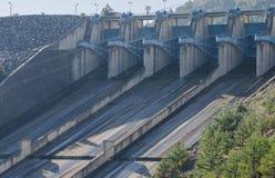 dnepr władze wodnej stacji zaporozhye Ukraine rzeki Fotografia Royalty Free