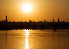 Dnepro-Fluss Kiew Stockfoto