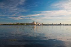 Dnepropetrovsk Dnepr, Dnipro. Dnepropetrovsk, beautiful city landscape, Dnepr River stock images