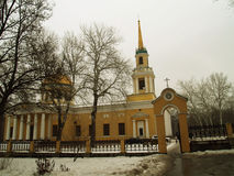 Dnepropetrovsk. Church of the Transfiguration of Christ in Dnepropetrovsk stock images
