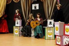 De musici van de maskerade Stock Fotografie
