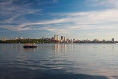 Dnepropetrovsk Dnepr, Dnipro. Dnepropetrovsk, beautiful city landscape, Dnepr River Royalty Free Stock Photography