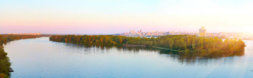 Dnepropetrovsk Dnieper. Urban landscape, panorama, Dnieper river, Ukraine royalty free stock photography