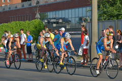 Dnepropetrovsk ETU Sprint Triathlon European Cup Royalty Free Stock Images