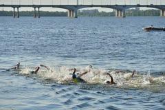 Dnepropetrovsk ETU Sprint Triathlon European Cup Royalty Free Stock Photography