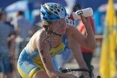 Dnepropetrovsk ETU Sprint Triathlon European Cup Royalty Free Stock Image